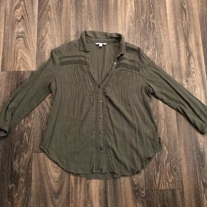 American Eagle Army Green Blouse